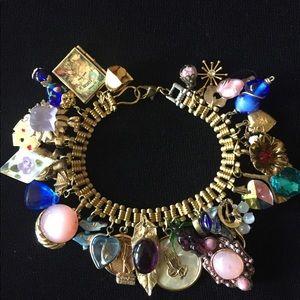 Jewelry - Vintage Lampwork Beads Charm Bracelet